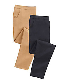 Cotton Silk Pull-On Pants