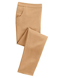 Cotton Silk Pull-On Pants