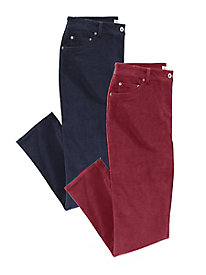 Modern Fit Straight-Leg Stretch Corduroy Jeans