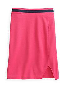 Ponte Knit Pencil Skirt with Contrast Trim