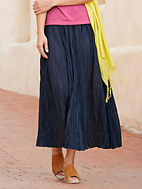 Cotton Silk Easy-On Broomstick Skirt