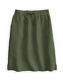 Silk Linen Easy-On Skirt