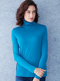 Funnel Neck Top in Mid-weight Washable Silk