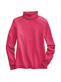 Rib Cuff Turtleneck in Mid-weight Washable Silk