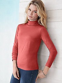 No-cuff Turtleneck in Mid-weight Washable Silk