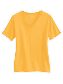 Cotton Modal Short Sleeve V-Neck Stretch Tee