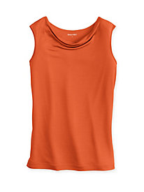 Sleeveless Cowl Neck Top in Mid-Weight Washable Silk