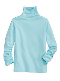 Pima Cotton Funnel Neck Top