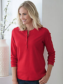Long-Sleeve Pima Cotton Henley