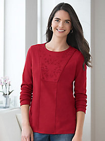 Long-Sleeve Pima Cotton Tunic