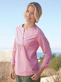 Cotton Linen Stripe Pullover...