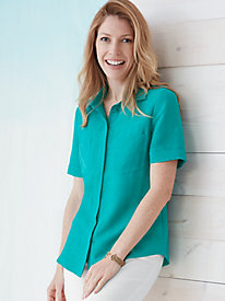 Silk Linen Short Sleeve Shirt