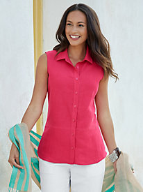 Silk Linen Sleeveless Shirt