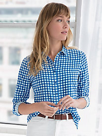 Silk Cotton Classic Gingham Shirt