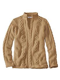 Silk Cotton Popcorn Sweater