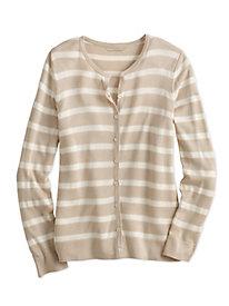 Striped Fine Gauge Silk...