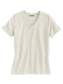 Fine Gauge Silk Cotton V-Neck
