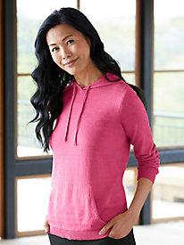 Silk Cotton Hoodie Sweater