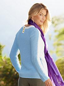 Cotton Colorblock Sweater...
