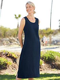 Sleeveless Silk Linen Dress