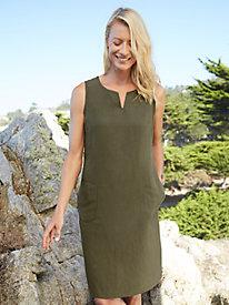 Silk Linen Shift Dress