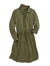 Tencel® Long Sleeve Shirtdress