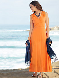Cotton Modal Solid Maxi Dress