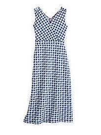 Cotton Modal Print Maxi Dress