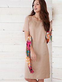 Tencel® Short Sleeve Shift Dress