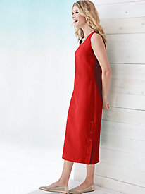 Silk Linen Sleeveless Dress