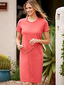 Cotton Linen French Terry T-Shirt Dress