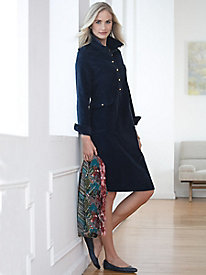 Long-Sleeve Corduroy Dress