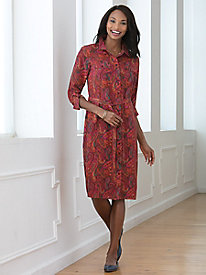 Perfectsilk Print Shirt Dress
