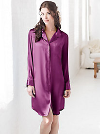 Washable Silk Charmeuse Nightshirt
