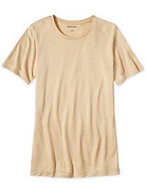 Ladies' Short Sleeve Crewneck Top in Lightweight Washable Silk