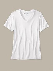 Men's Short Sleeve V-Neck Top in Heavyweight Washable Silk by WinterSilks