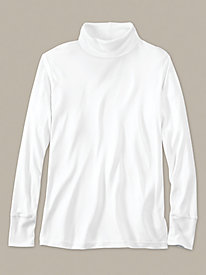 Men's Long Sleeve Turtleneck in Mid-weight Washable Silk