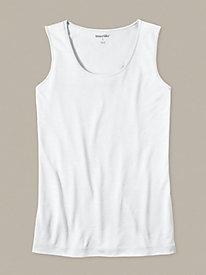 Ladies' Scoop Tank in Heavyweight Washable Silk
