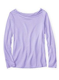 Silk Modal Cowl Neck Pajama Top