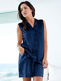 Washable Silk Charmeuse Shorts Pajama Set