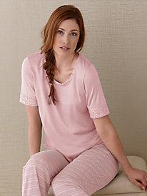 Short Sleeve Sleep Top in Silk Modal