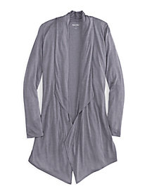Long Sleeve Flyaway Robe in Mid-weight Silk Modal