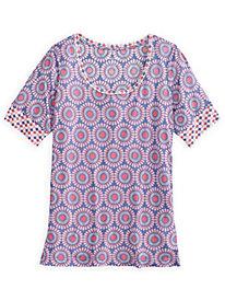 Short Sleeve Sleep Top in Mid-weight Silk Modal