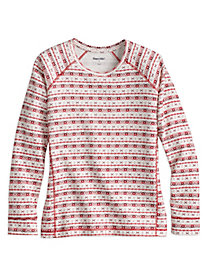 Print Women's Cotton Silk Thermal Layer Top
