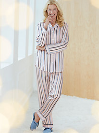 Long Sleeve Washable Silk Charmeuse Pajama Set