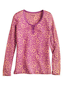 Print Pajama Top in Silk Modal