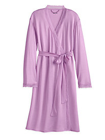 Silk Modal Knee Length Robe