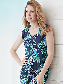 Floral Silk Modal Sleep Tank