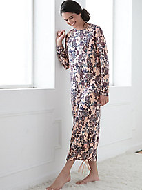 Long-Sleeve Print Nightgown
