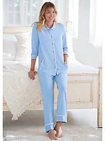 Classic Solid Color Pajama Set